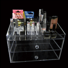 Weitu clear makeup organizer customized cheap wholesale acrylic makeup organizer high quality cosmetic display