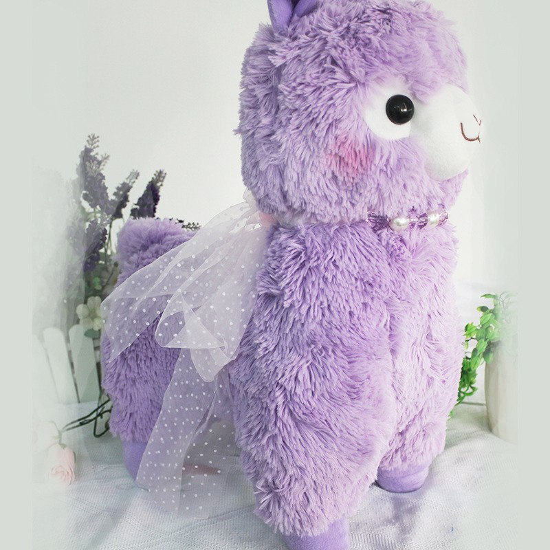 2017 Custom 40cm soft colorful alpaca shaped plush toy for gift