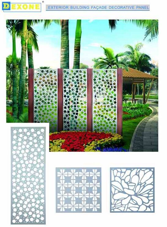 Decorative Exterior Panels : Garden screen panels decorative cnc exterior metal fencing