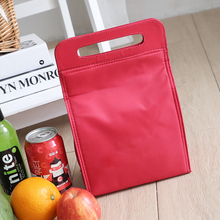 Fashion quality nylon material custom classical China Red portable soft cooler bag