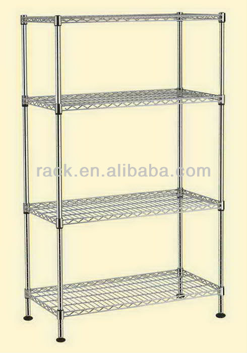Multi-purpoase 4 Tiers Metro Wire Rack in Chrome , NSF Approval