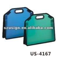 US-4167 A4 Plastic handle document briefcase