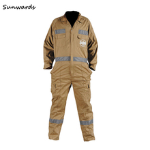 workmans aramid fiber heated fr offshore working safety coverall