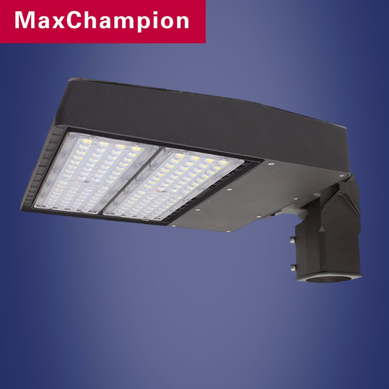 UL DLC listed waterproof motion sensor available 200 watt led parking lot light 300w garage light, led light parking lot