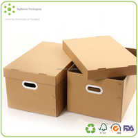 2016 Factory Price Custom Made Company Logo Printing Corrugated Paper Storage Box for Clothes / Dress With Lid