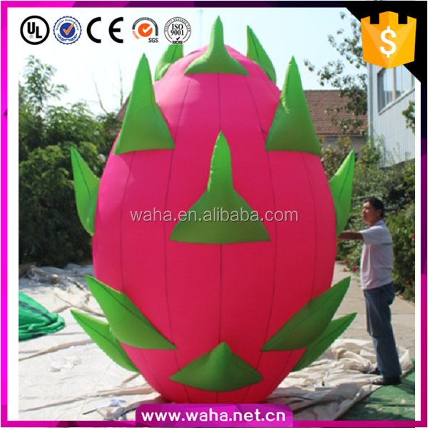 decoration giant inflatable pitaya dragon fruits for advertising