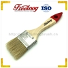 Wholesale wall flat natural bristle paint brushes wooden handle