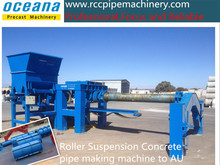 Horizontal concrete pipe making machine for Reinforced Concrete cement pipes