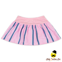 2017 Model Design Summer Young Girl Separable Pink Striped Swimsuit Dress Clothes Mini Skirt