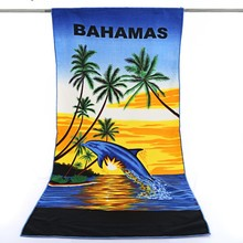 china factory new design rectangle sublimation microfiber custom print beach towel, printed bath towel