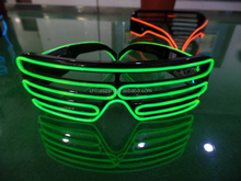 Fashion shutter sunglasses led Shutter Shades flashing glasses without battery box EL Wire Glasses for Concert Night Clubs party