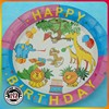 "Disposable 7"" Custom Printed Partyware Round Paper Plate"