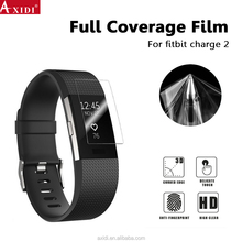 Crystal Clear soft tpu screen protector full cover smart watch screen protector for Fitbit chage 2