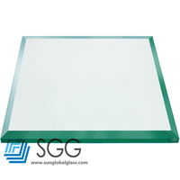 Expandable Glass Dining Table Tinted Tempered