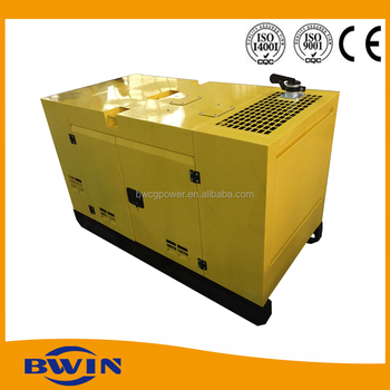 Ultra silent 15kva generator electric 24 hours fuel tank
