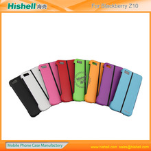 latest design silicone holder double color case for Blackberry Z10
