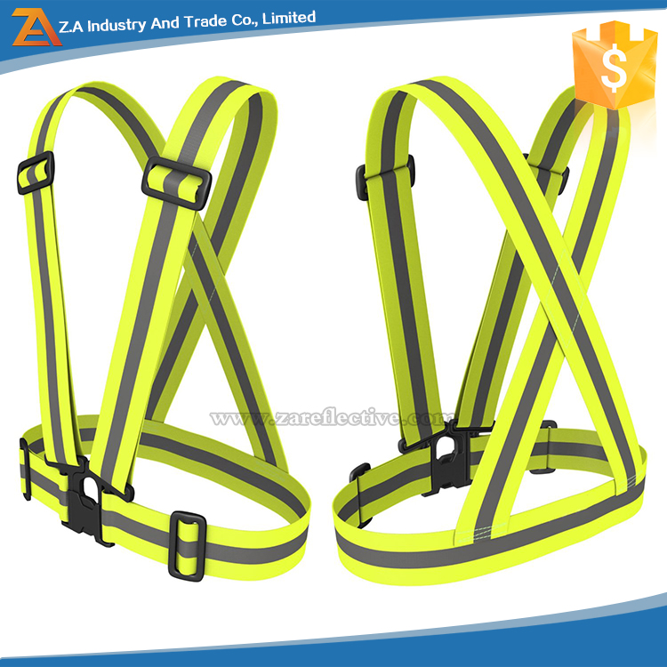 customed logo reflective belt Sport Running Safety Reflective Belt hanging safety belt