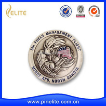 custom 3D metal challenge coin for the fuel management fight
