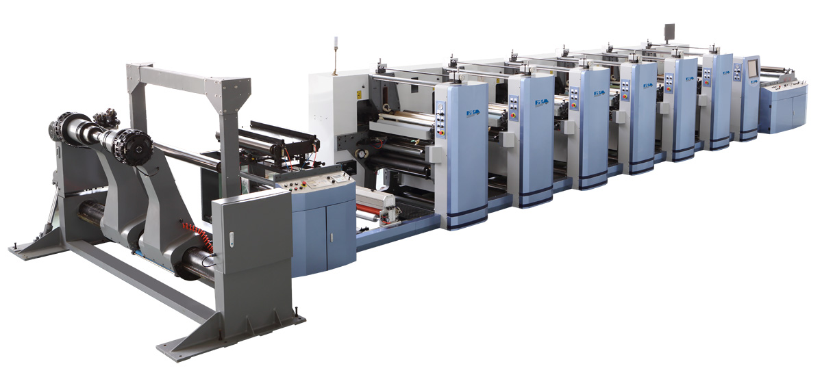 6 color paper bag flexographic printing press machine