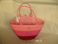 lady straw handbag with beautiful color