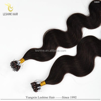Golden Supplier Private Label Top Quality 0.5g 0.8g 1g Keratin Glue No Tangle 100 Remy Human Hair micro bead loop hair