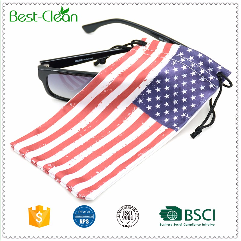 Microfiber Both Side Drawstring Eyeglasses Holder