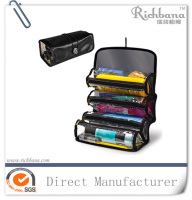 PVC Compartment roll up travel cosmetic bag for gentlemen