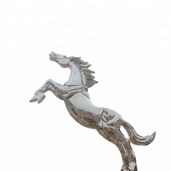 Art decor silver horse sculpture with customized statue metal crafts WY-S S17