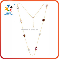 Fashion Red Acrylic Statement Bib Women Beaded Necklace