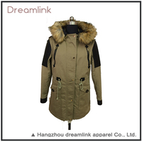 Latsed Garments Winter Stylish Yellow Lady Parka Jacket