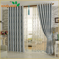 Wholesale 100% Polyester Blackout Fabric Curtains And White Jacquard Curtain