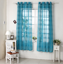 100%polyester dolly sheer curtain /stripe voile curtain