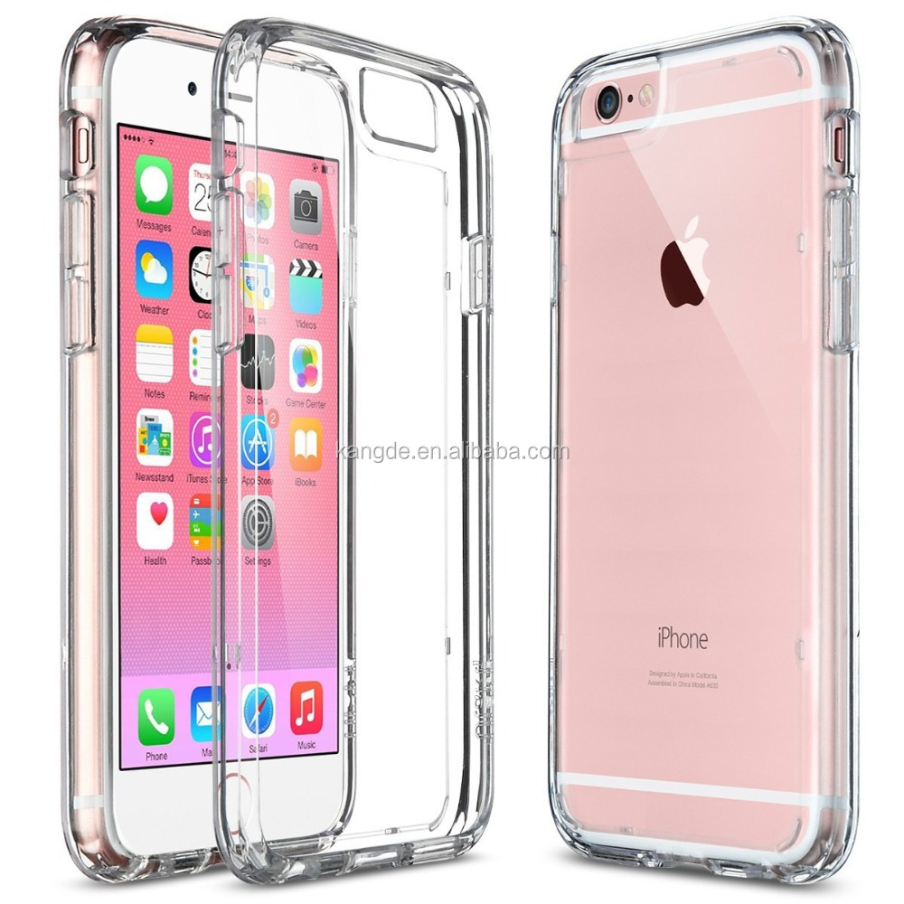 NEWEST HOTTEST SALE Shock-Absorption Bumper and Anti-Scratch Clear Back for iPhone 6s iPhone 6 4.7 Inch
