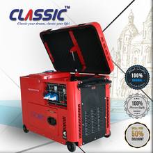 CLASSIC(CHINA) AC Three Phase 5KVA Silent Generator with 5KVA Generator Engine for Home Use, 6KVA DG7500 Silent ATS Electric