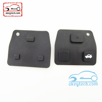 High Quatity Toyota remote key shell rubber pad fob Car Key 3 button romote key shell rubber pad