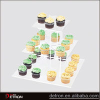 Praticial hot acrylic cupcake bakery display