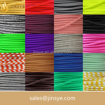 VDE/UL lighting electrical braided cable cotton cord Textile cable