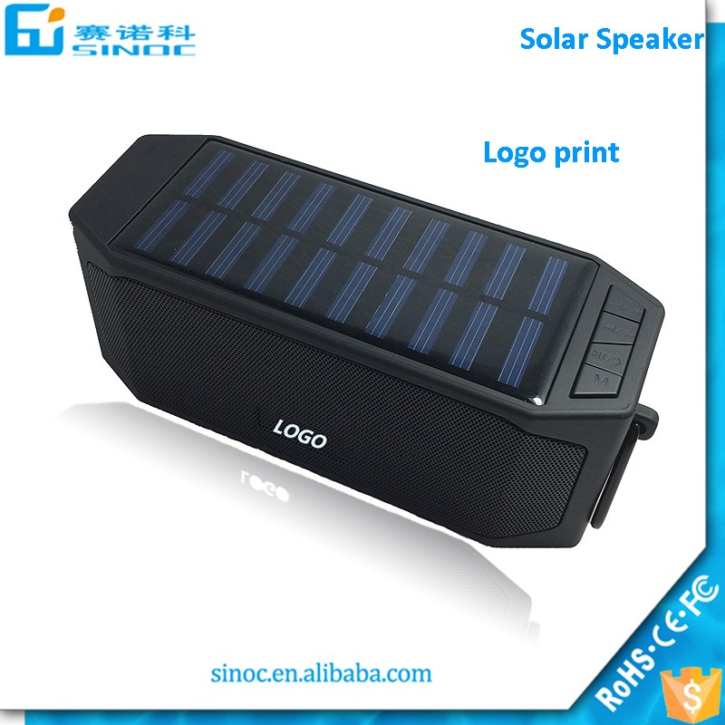 Shenzhen Sinoc high quality mini portable wireless TF Mp3 player solar bluetooth speaker