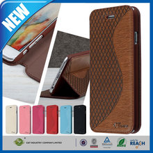 C&T Luxury genuine stand leather flip case for samsung galaxy e7