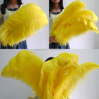 Yellow cheap ostrich feather for wedding decoration