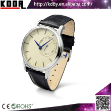 Shenzhen Koda Horologe High Quality Quartz Date Analog Leather Wristwatch Royal Crown