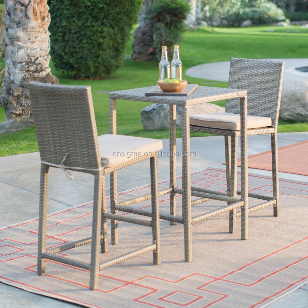 2017 Trade Assurance Hot Sale Outdoor Alum frame structure poly rattan wicker garden table furniture