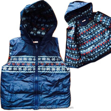 2015 apparel stocklot kids christmas hoodied vest jacket
