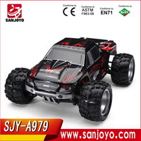 New WL A979 Mini RC Car 1:18 2.4G Remote Control Cars High Speed RC Monster Truck 4WD Dirt Bike with Original Package Box(black)
