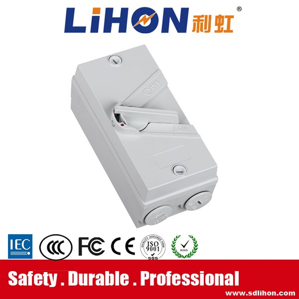Widely used weather protected waterproof loslating switches distribution box