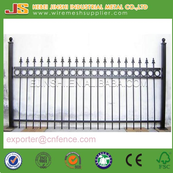 Cheap Customized Forged Iron Fence Panel, Wrought Iron Fence Design for sale