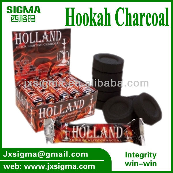 Round charcoal tablets shisha charcoal hookah coal esay light bamboo hookah charcoal