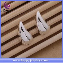 Latest design 925 silver plated wholesale price silver accessories to make earrings AE289