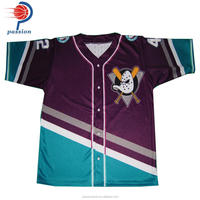 Custom breathable baseball jersey sublimated baseball shirts manufacture