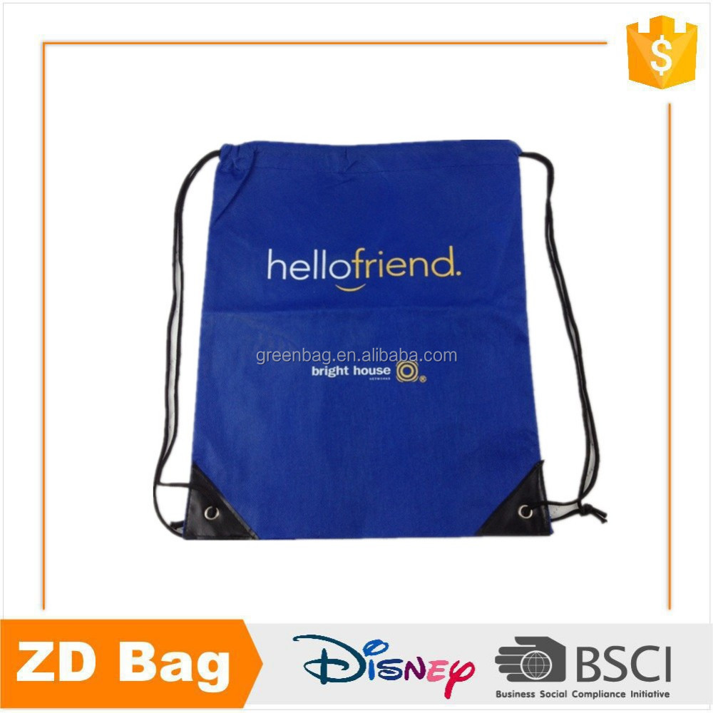 Customized Blue Promotional Drawstring Dust Bag